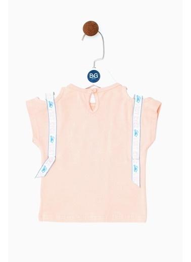 BG Baby Kız Bebek Somon T-Shirt 19SS0BG2523 Somon